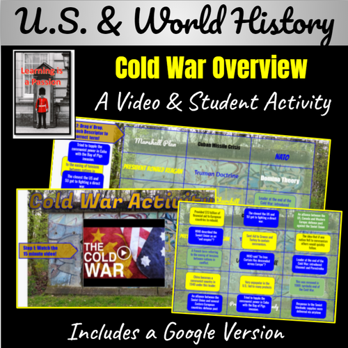 U.S. & World History | Cold War Video & Google Activity | Distance Learning