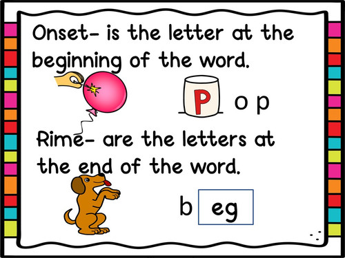 Onset and Rime Short Vowel Printables