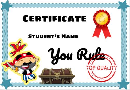 Create End of the Year Reward Certificates Diplomas Awards Superhero Stickers
