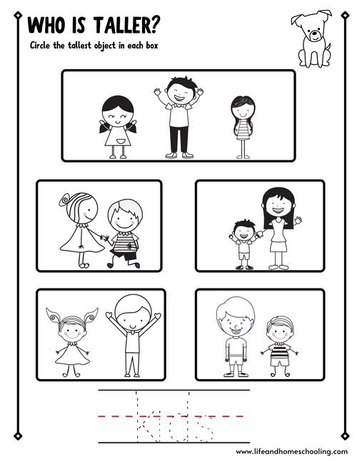 Preschool Math (tall/short)