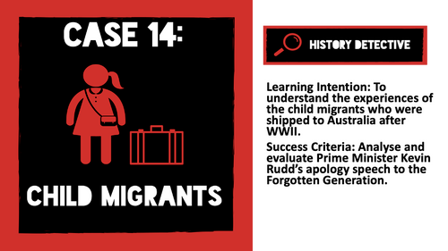 Case 14 Child Migrants to Australia after WWII: The Forgotten Generation