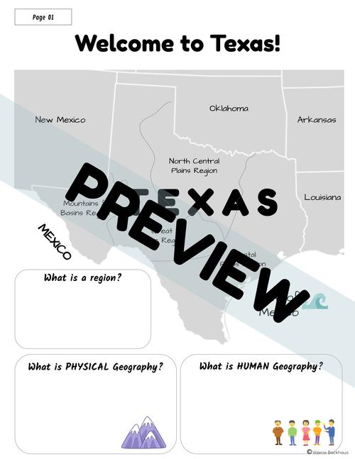 Natural Texas & its People | TX Regions | Interactive Notes | TX History 7th Grade