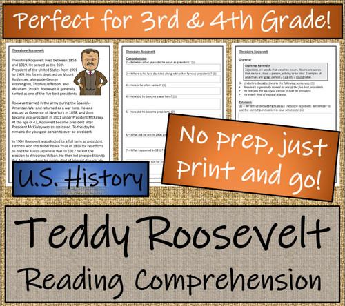 Theodore Roosevelt Close Reading Activity | 3rd Grade & 4th Grade