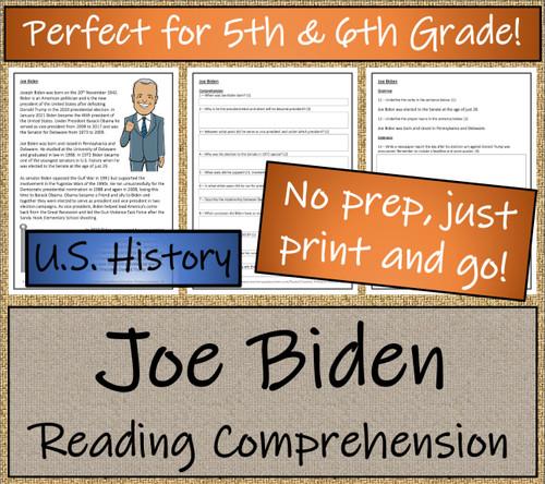 Joe Biden Close Reading Activity | 5th Grade & 6th Grade
