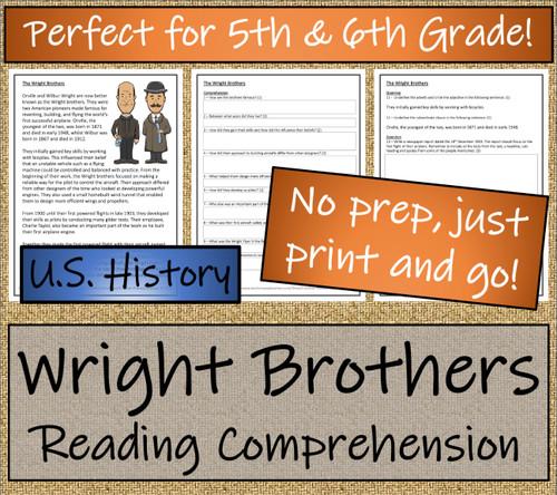Wright Brothers Close Reading Activity | 5th Grade & 6th Grade