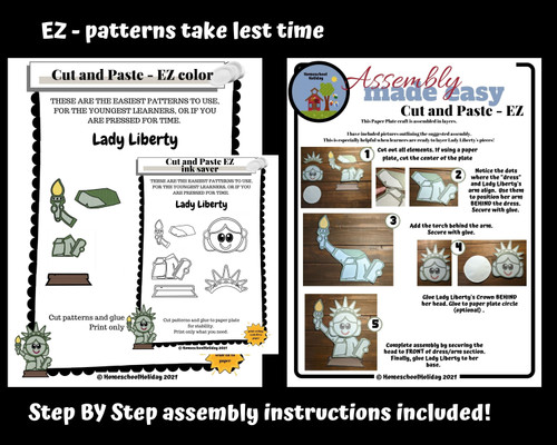 Statue of Liberty Paper Plate Craft