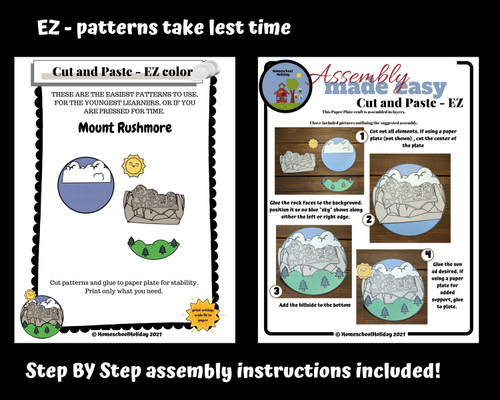Mount Rushmore Paper Plate Craft