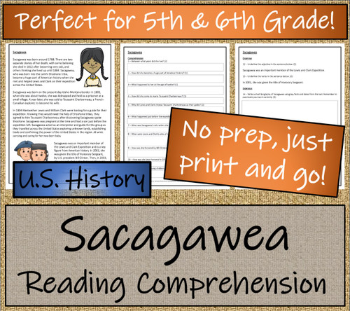 Sacagawea Close Reading Activity | 5th Grade & 6th Grade