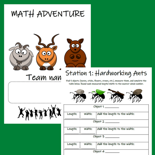 Outdoor Math Activities 1st 2nd Grade Addition Subtraction Time Skip Counting