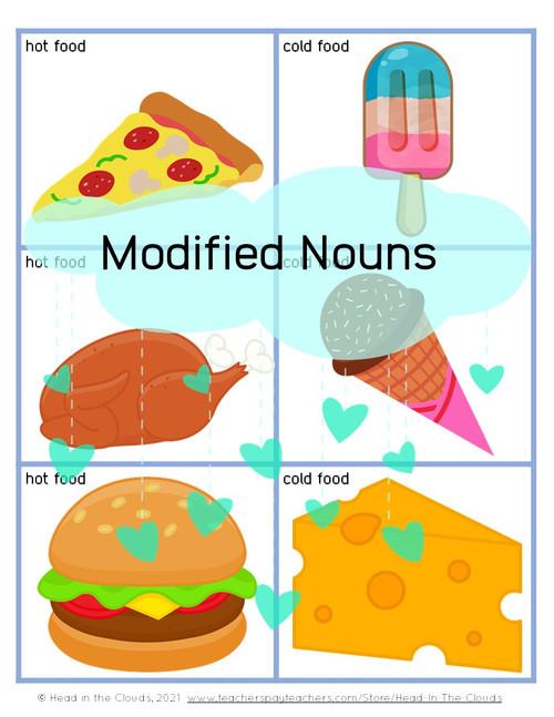 Modified Nouns - Teddy Bear Picnic