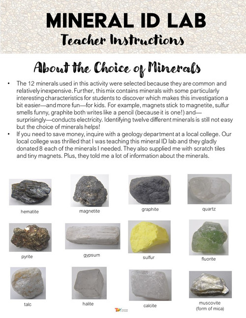 Mineral Identification Lab | Rocks and Minerals Activity for Earth Science Unit