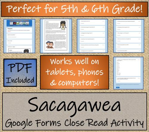 Sacagawea Close Reading Activity Digital & Print | 5th Grade & 6th Grade