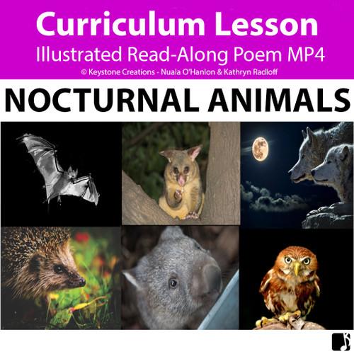 'NOCTURNAL ANIMALS' (Pre-K - 6) ~ Illustrated Curriculum Poem Video