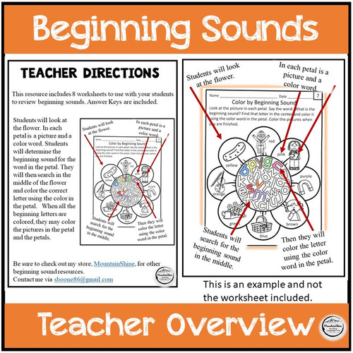 Beginning Sounds Letter Search FREEBIE