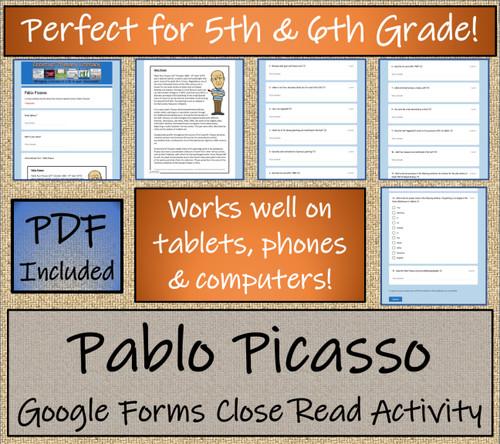 Pablo Picasso Close Reading Activity Digital & Print | 5th Grade & 6th Grade