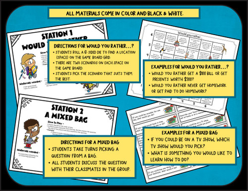 Back to School - Get to Know You Activities for 4th and 5th Grade