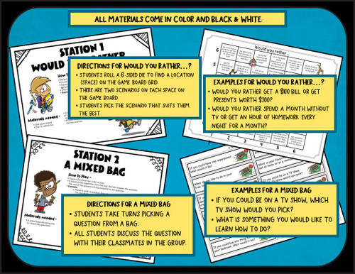Back to School - Get to Know You Activities - 3rd Grade