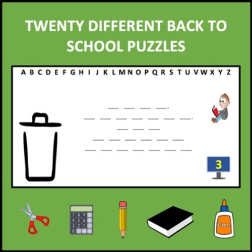 Back to School Digital Letter Guess