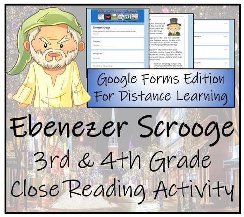Ebenezer Scrooge Close Reading Activity Digital & Print | 3rd Grade & 4th Grade