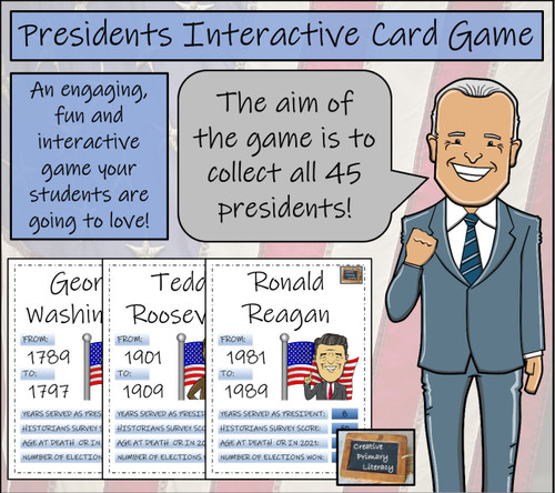 American Presidents Interactive Card Game