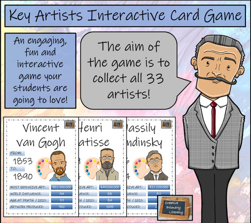 Famous Artists Interactive Card Game