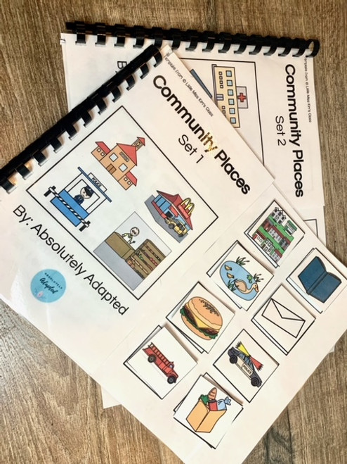 Community Places Interactive Adapted Book Set