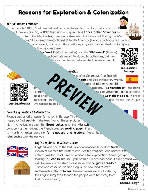 Exploration & Colonization - Reading Passages | TEKS / STAAR Social Studies