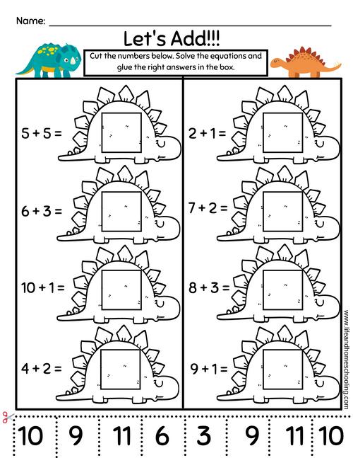 1st Grade Addition & Subtraction Worksheet