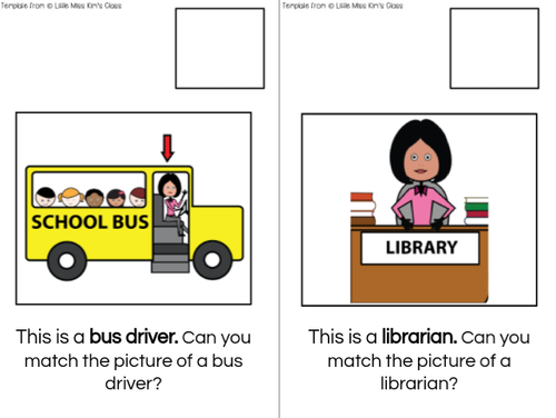 School Community Interactive Adapted Books for Special Education