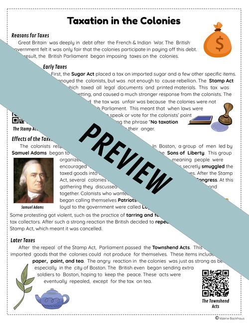 The American Revolution - Reading Passages | TEKS / STAAR Social Studies