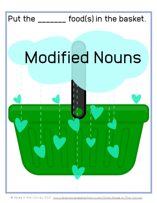 Modified Nouns - Food Shopping Activity