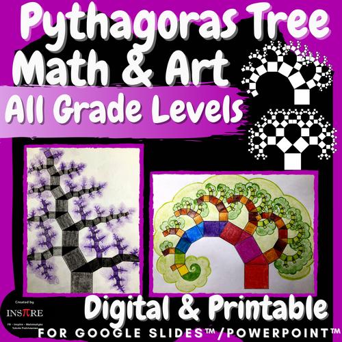 Pythagoras Tree Pythagorean Theorem Math & Art Project Special Right Triangles