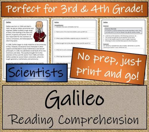 Galileo Close Reading Activity | 3rd Grade & 4th Grade