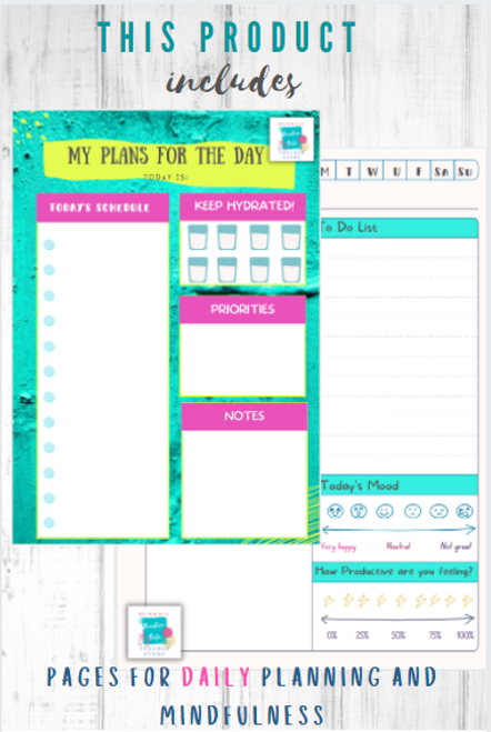 Re-usable Binder Mindfulness and Positivity Teacher Planner