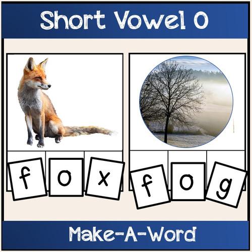 Short Vowel O Bundle Make-A-Word, Puzzles, Worksheets & Flashcards