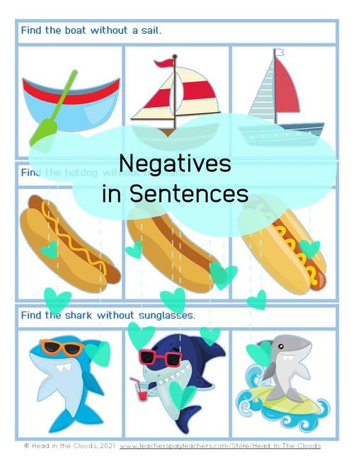 Negatives in Sentences - Summer Set