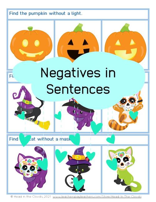 Negatives in Sentences - Autumn Set