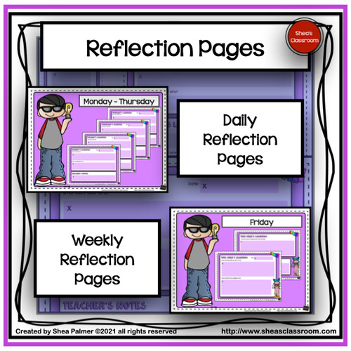 Student Reflection Journal Resources With Print & Digital Options