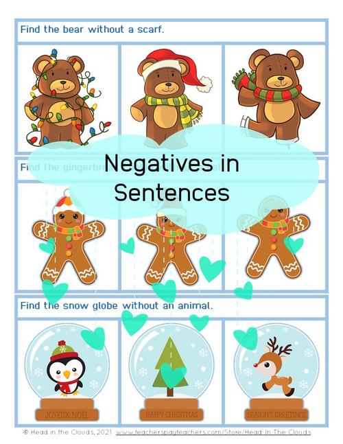 Negatives in Sentences - Winter Set