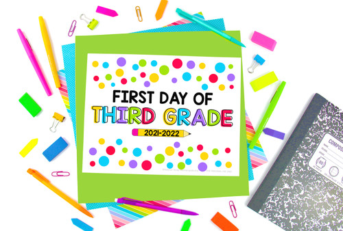 First Day of School Signs - FREE