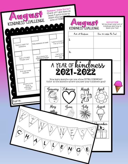 Kindness Challenge August Sample