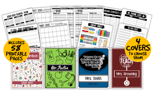 2021-22 Health Science Teacher Planner- Ready to Print and Customize!