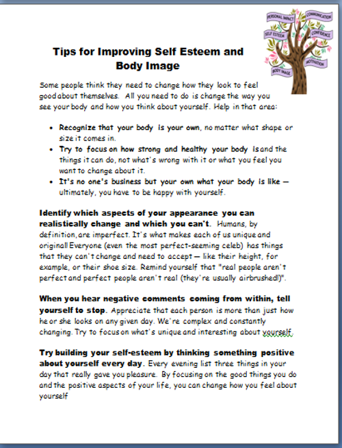 Body Image and Self Esteem
