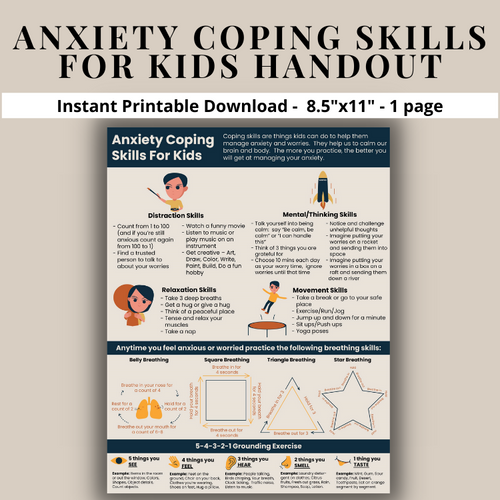 Anxiety Worry Coping Skills For Kids - Coping Strategies For Anxious Children Calm Down Strategies