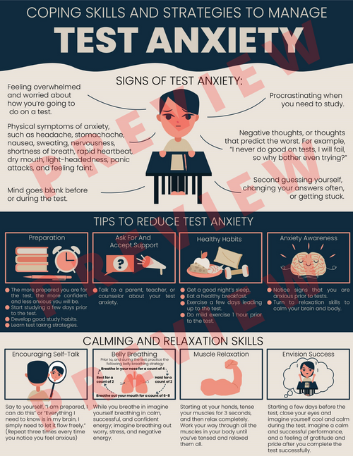 Test Anxiety Coping Skills And Strategies To Manage Test Anxiety Kids & Teens