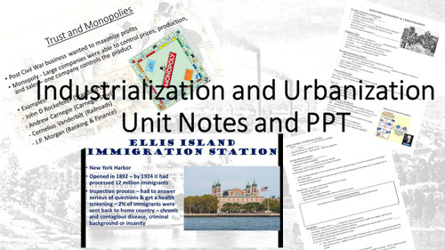 Industrialization & Urbanization PPT & Notes