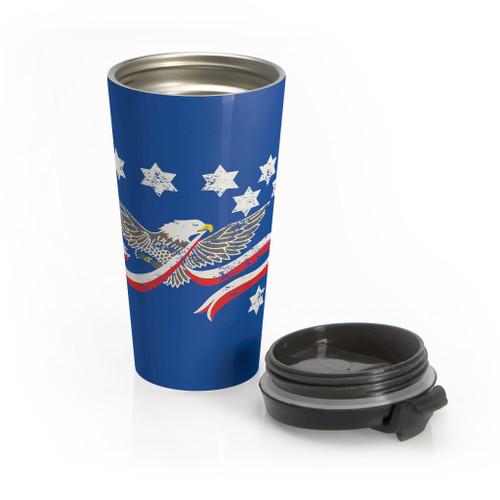 """Whiskey Rebellion"" 15 oz. Stainless Travel Mug"