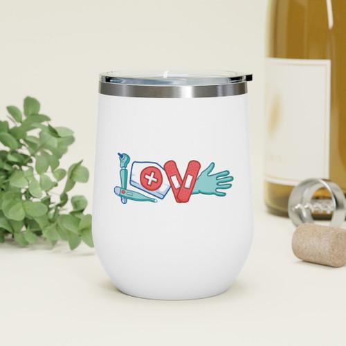 "Nurse ""LOVE"" 12 oz. Insulated Wine Tumbler"