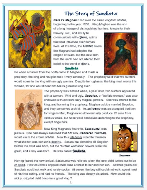 The Story of Sundiata + Assessments