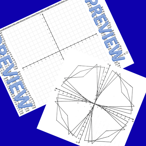 Parabolic Curves Math & Art Coordinate Plane Graphing 4 Quadrants String Art
